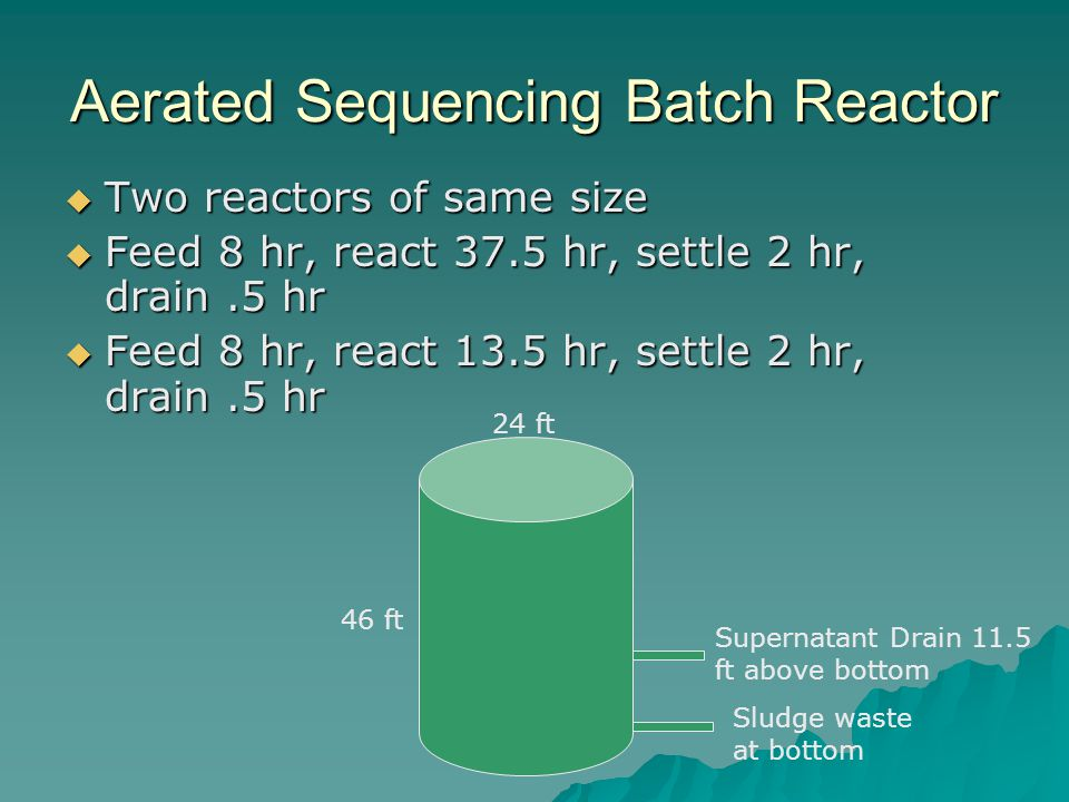Aerated Sequencing Batch Reactor