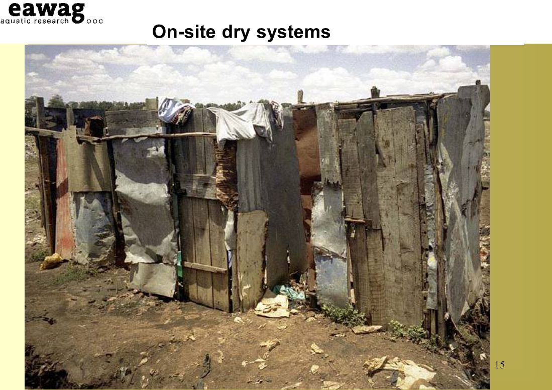 On-site dry systems Simple pit latrine