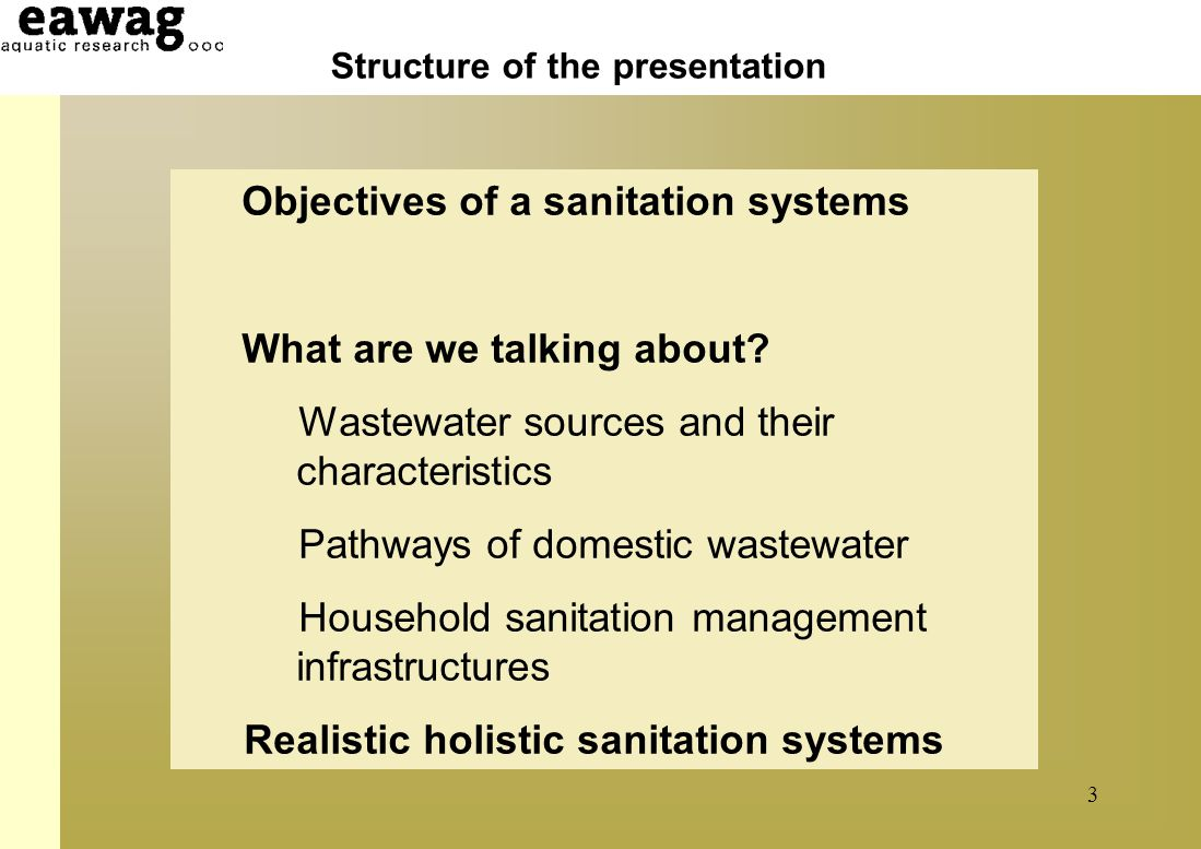 Household and neibourghood Sanitation Infrastructures: Excreta, wastewater disposal in developing countries