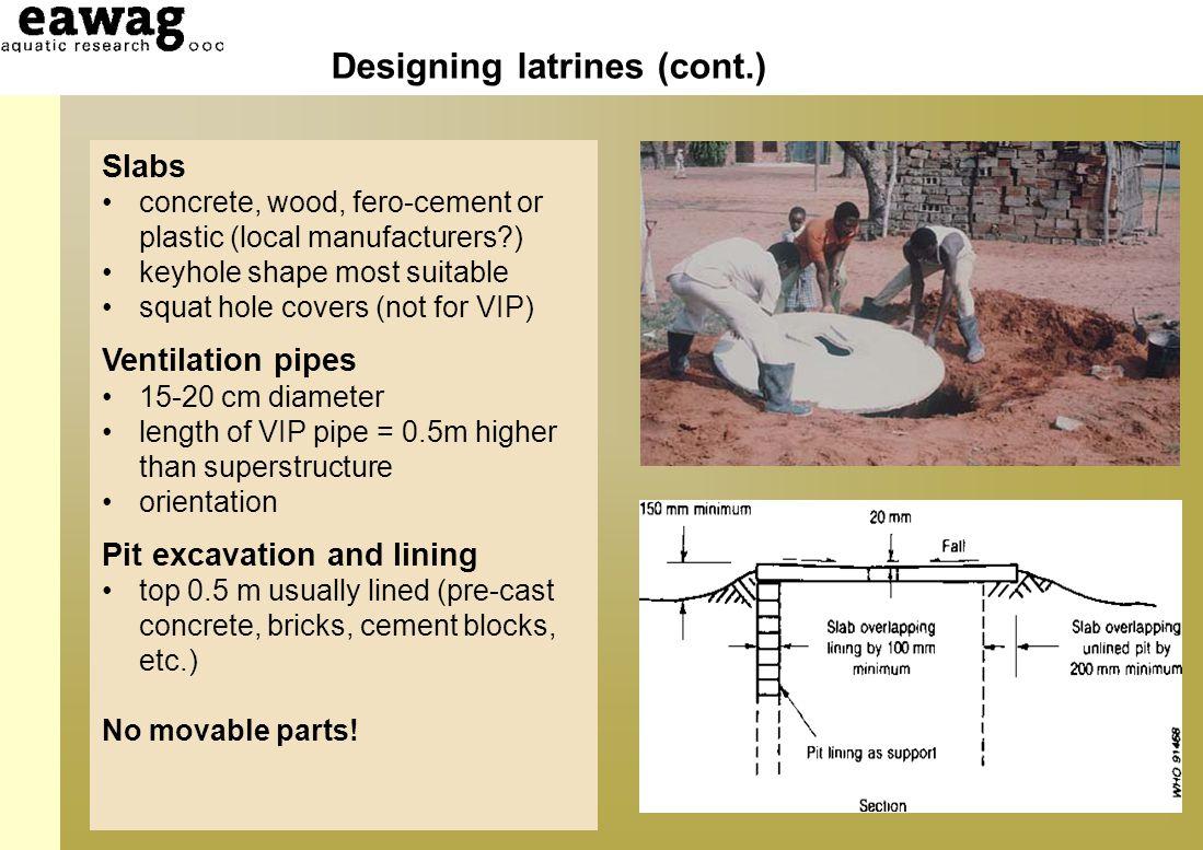 Designing latrines