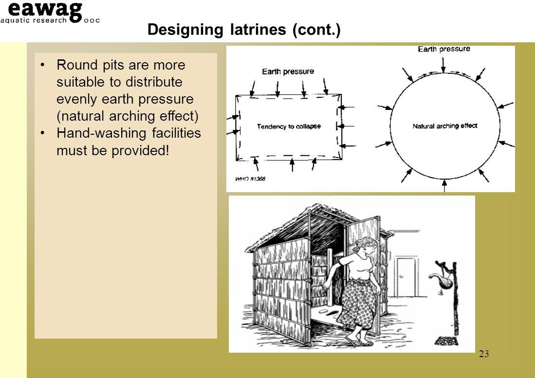 Designing latrines (cont.)