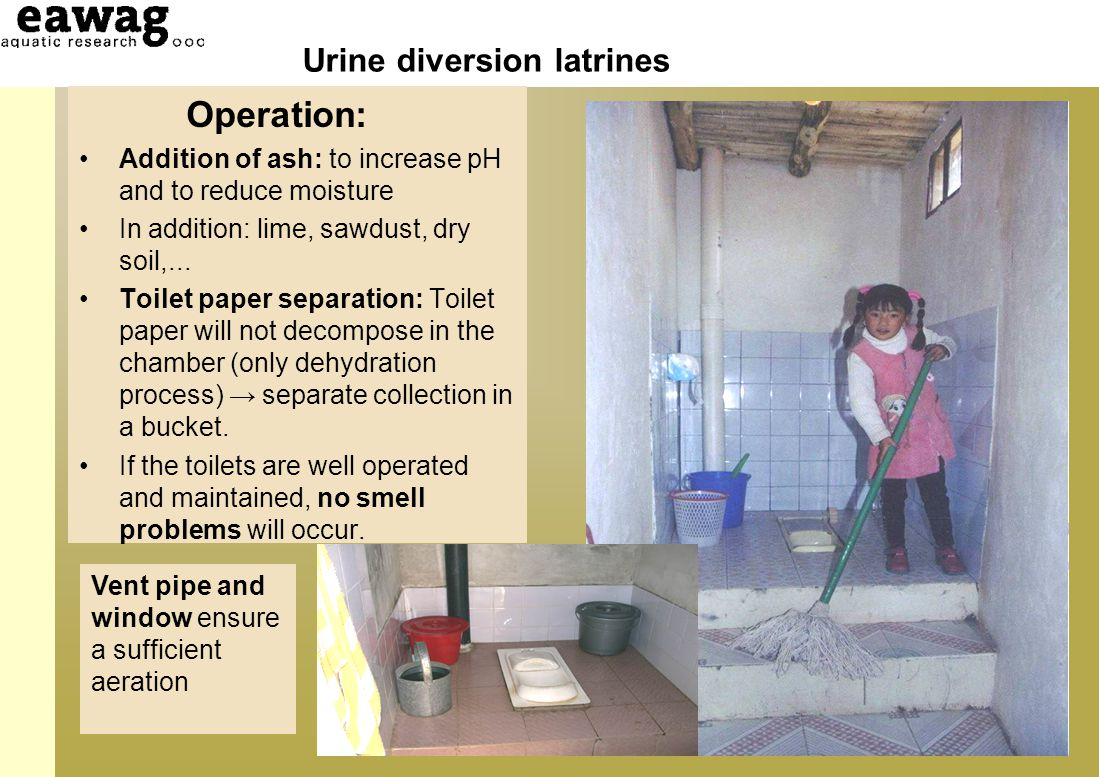 Urine diversion latrines