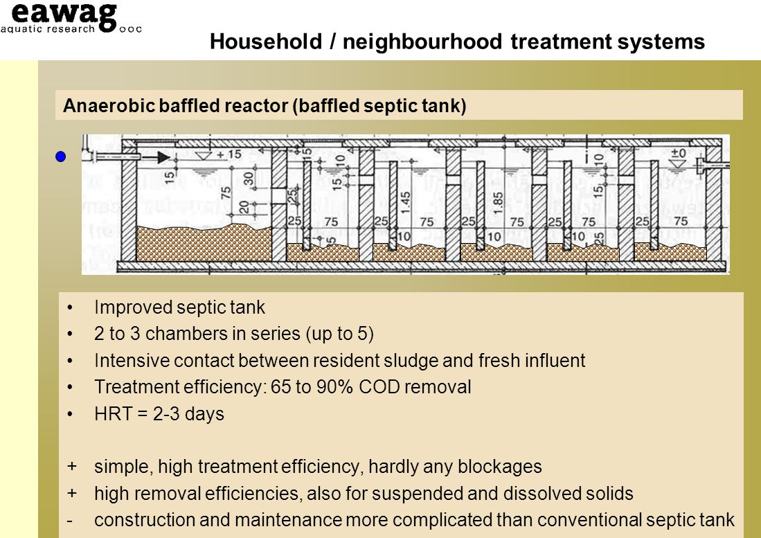 Household and neibourghood sanitation infrastructures for Household septic tank design