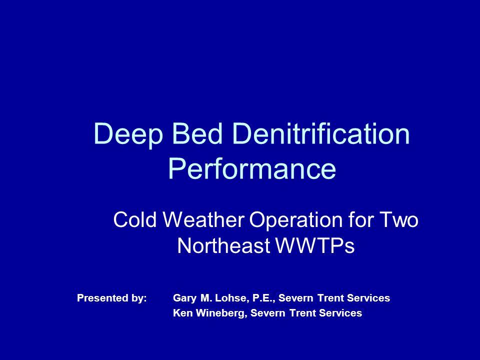 Deep Bed Denitrification Performance
