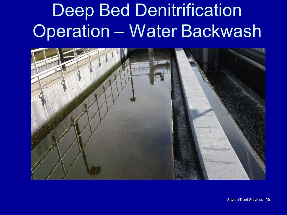 Deep Bed Denitrification Operation – Water Backwash