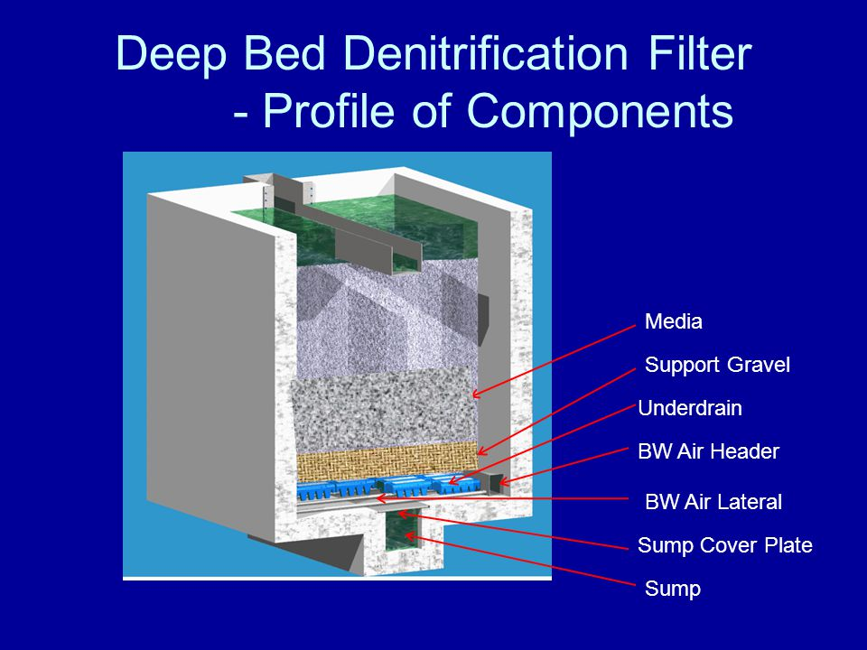 Deep Bed Denitrification Filter - Profile of Components