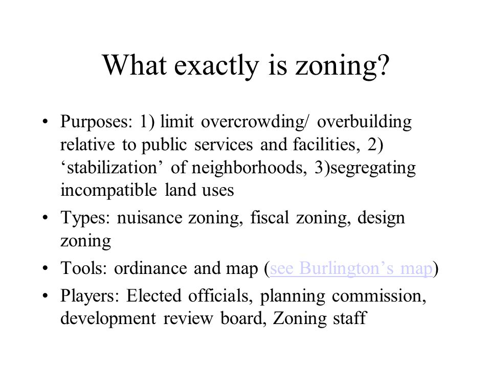 What exactly is zoning
