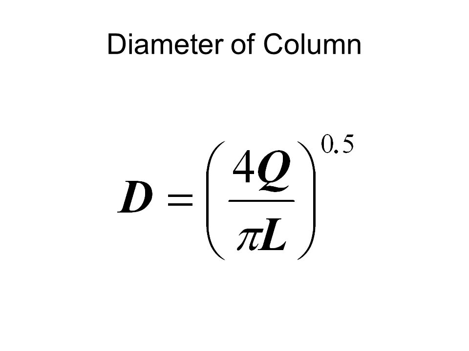 Diameter of Column