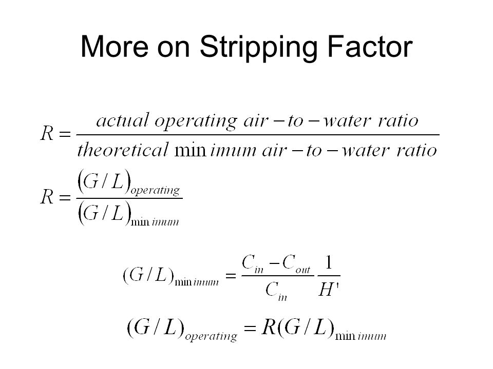 More on Stripping Factor