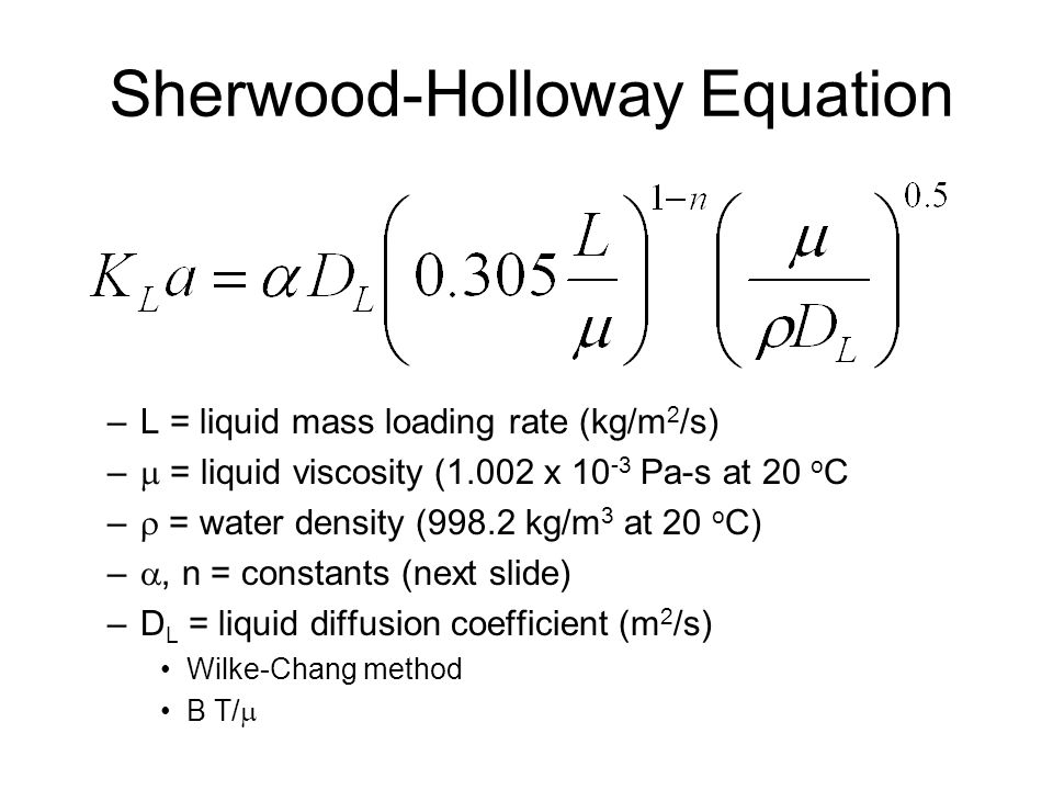 Sherwood-Holloway Equation