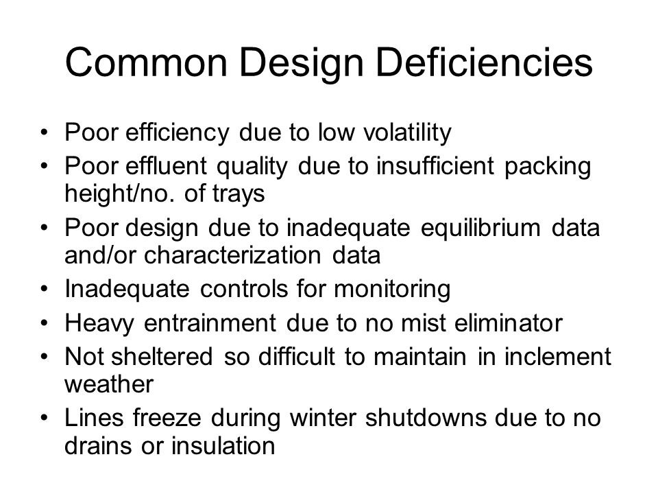 Common Design Deficiencies