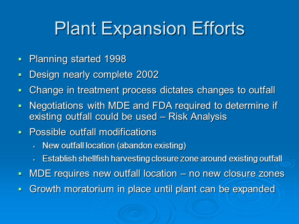 Plant Expansion Efforts