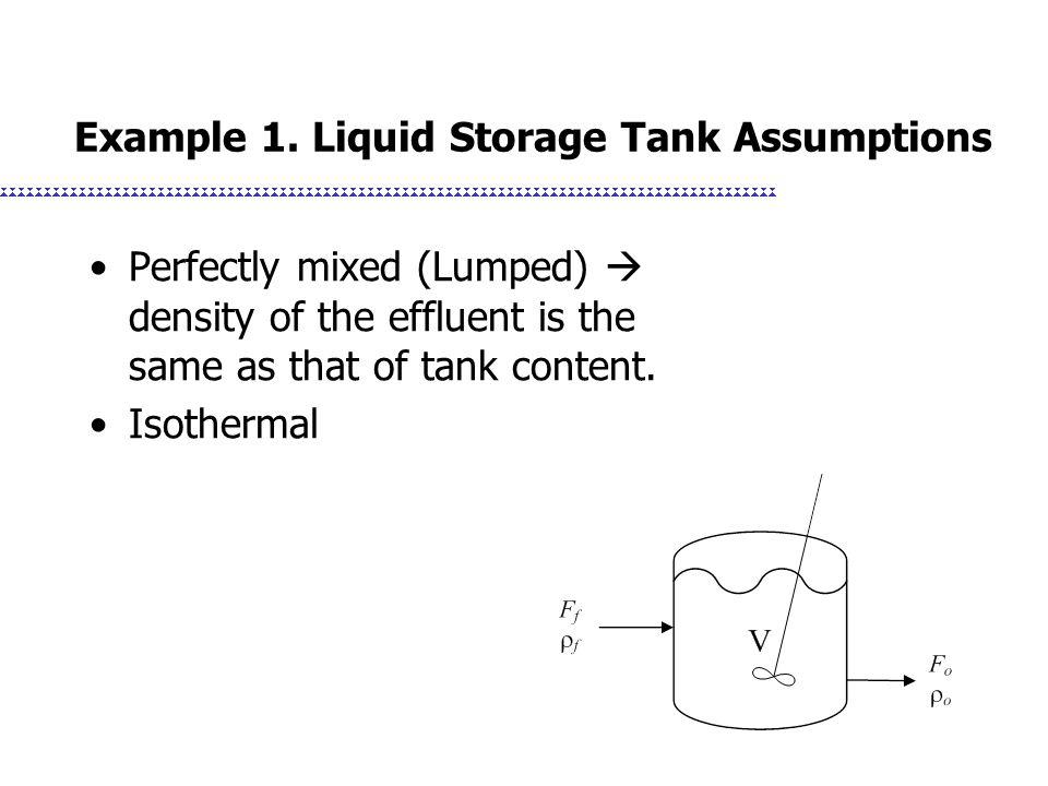 Example 1. Liquid Storage Tank Assumptions