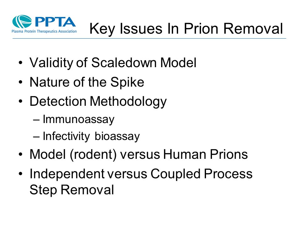 Key Issues In Prion Removal