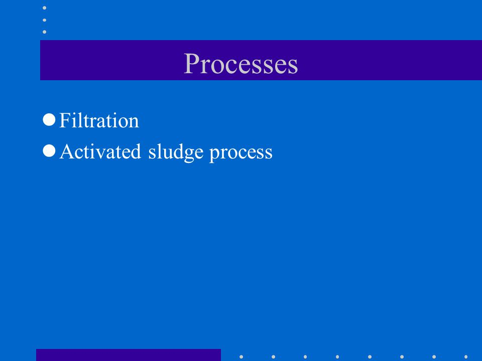 Processes Filtration Activated sludge process