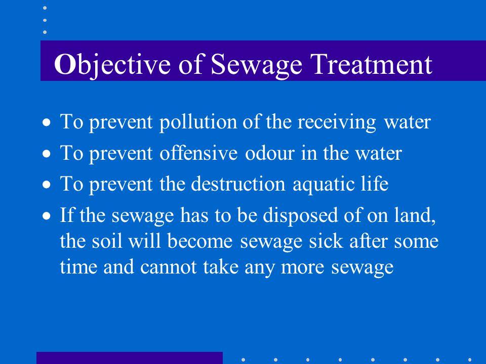 Objective of Sewage Treatment