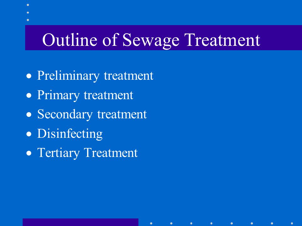 Outline of Sewage Treatment