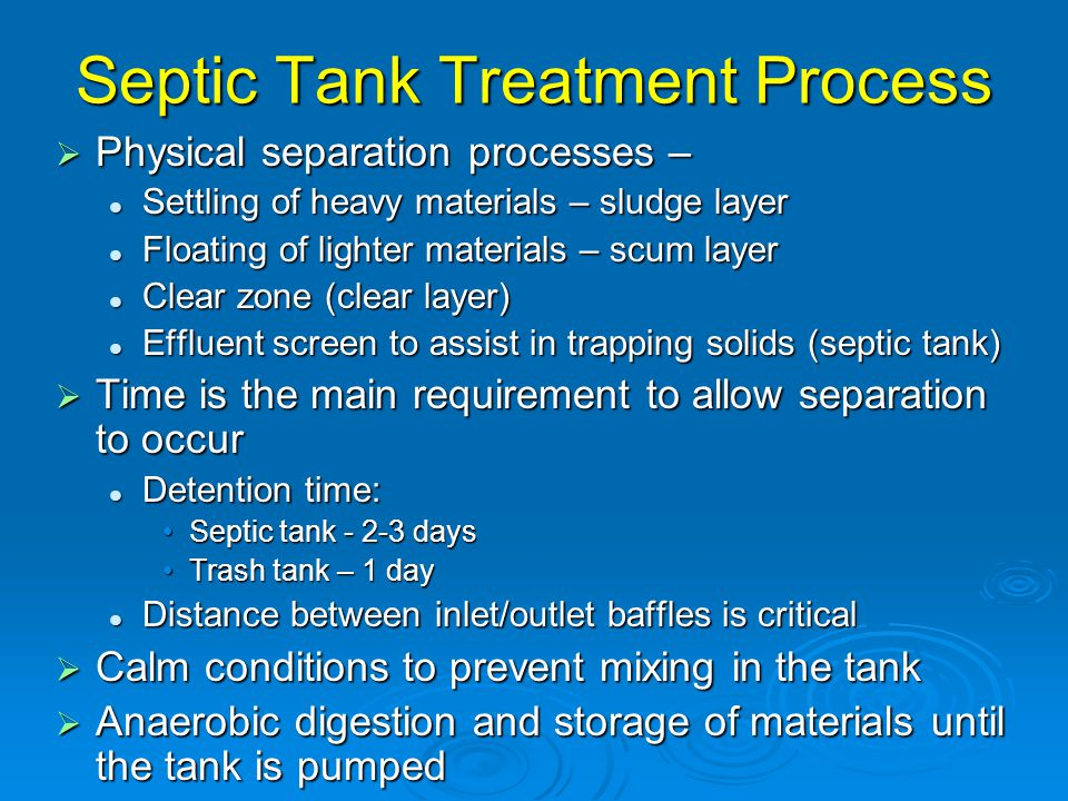 Septic Tank Treatment Process