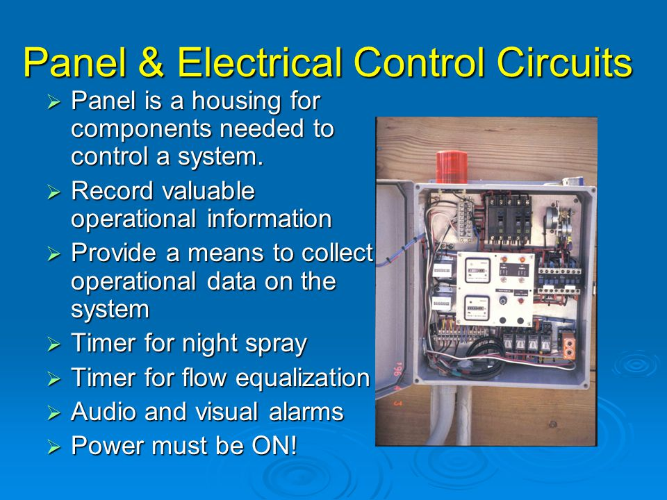 Panel & Electrical Control Circuits