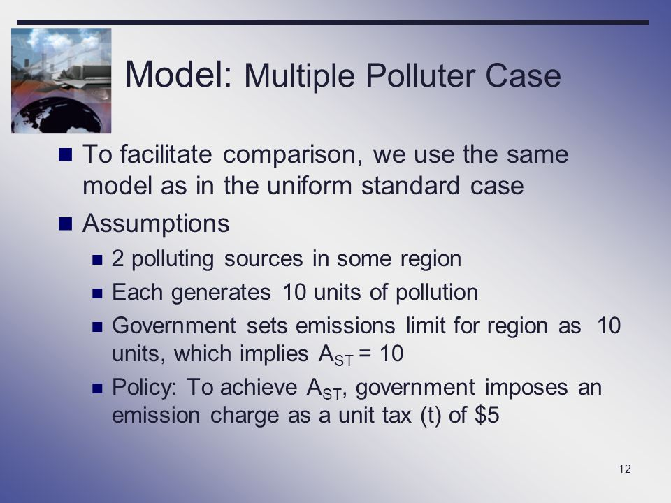 Model: Multiple Polluter Case