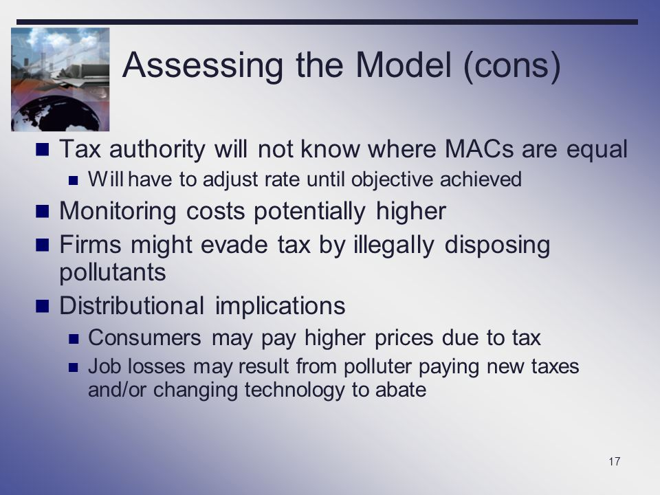 Assessing the Model (cons)
