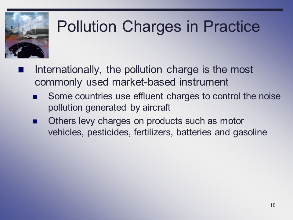 Pollution Charges in Practice