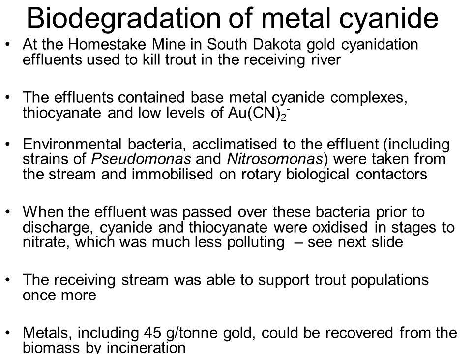 Biodegradation of metal cyanide