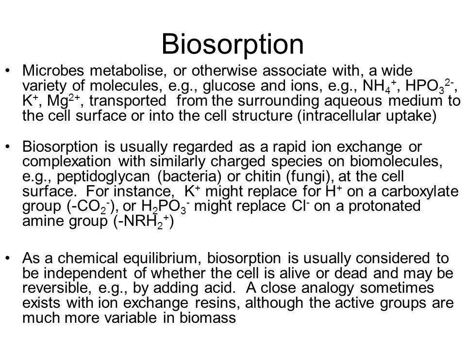 Biosorption