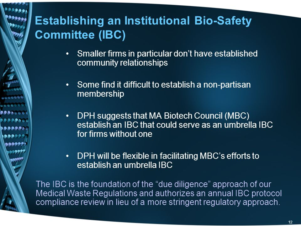 Establishing an Institutional Bio-Safety Committee (IBC)