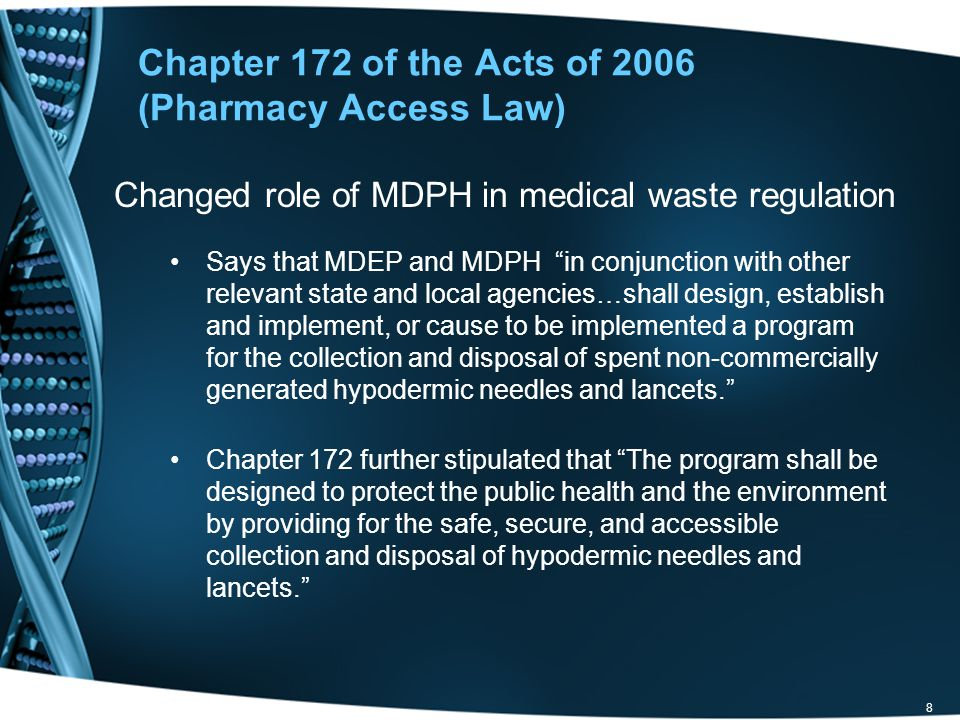 Chapter 172 of the Acts of 2006 (Pharmacy Access Law)