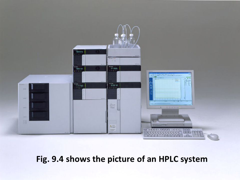 Fig. 9.4 shows the picture of an HPLC system