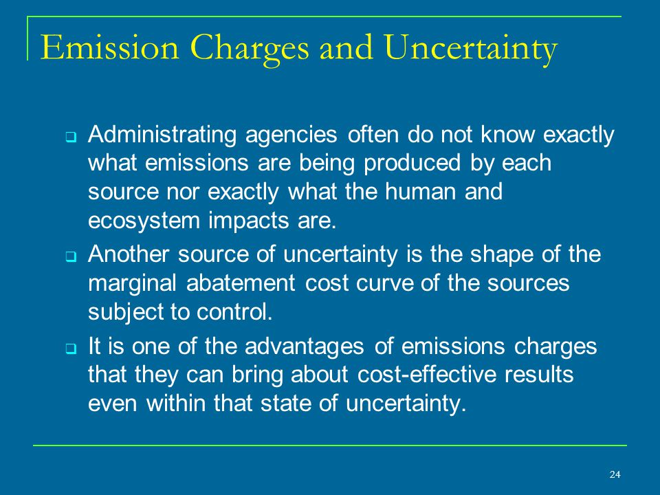 Emission Charges and Uncertainty