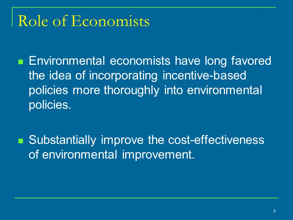 Role of Economists