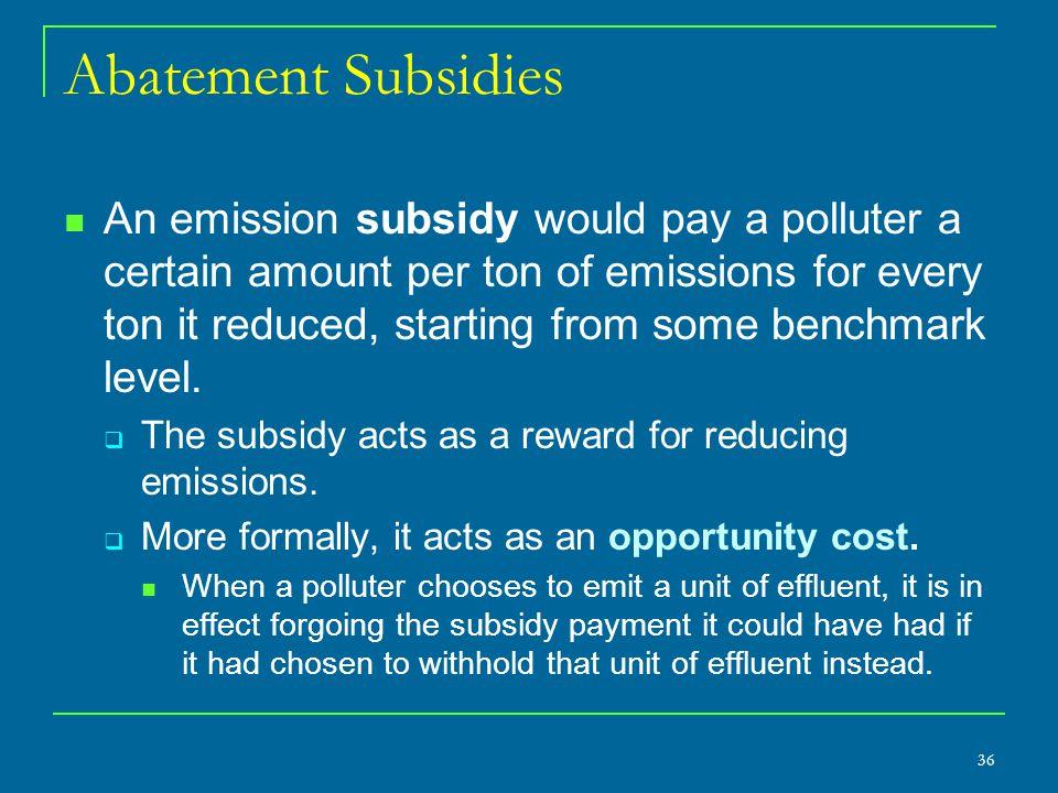 Abatement Subsidies