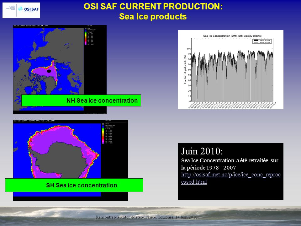 OSI SAF CURRENT PRODUCTION: Sea Ice products