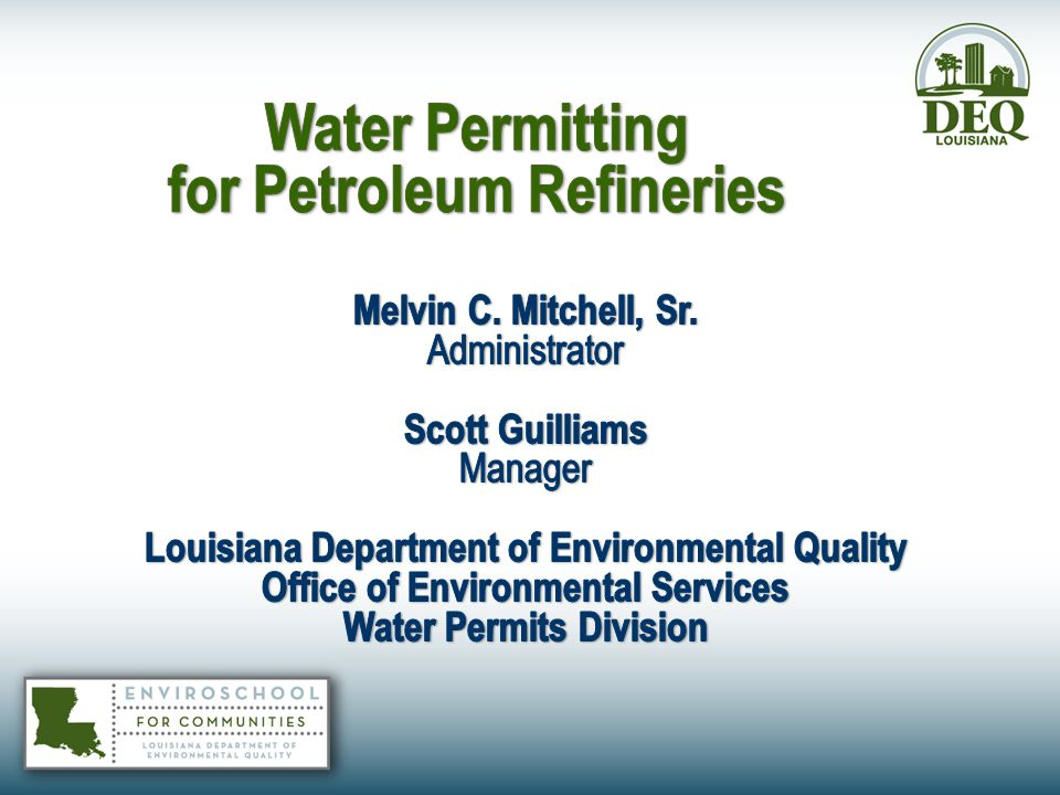 Water Permitting for Petroleum Refineries