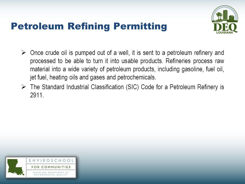 Petroleum Refining Permitting