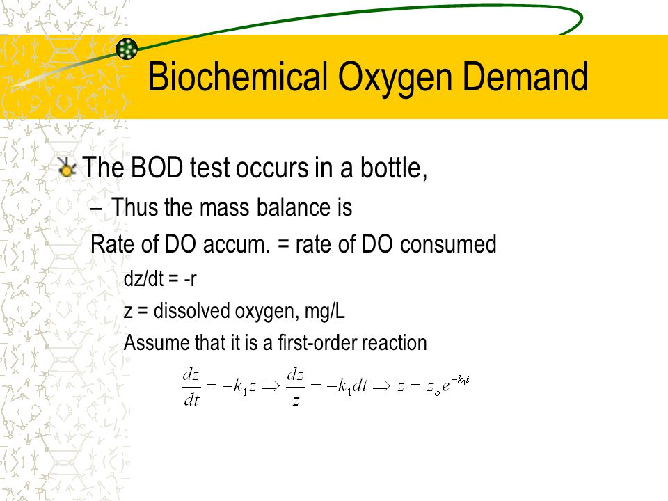Biochemical Oxygen Demand
