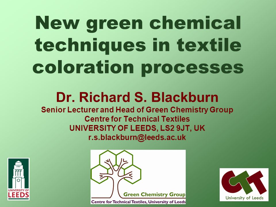 New green chemical techniques in textile coloration processes