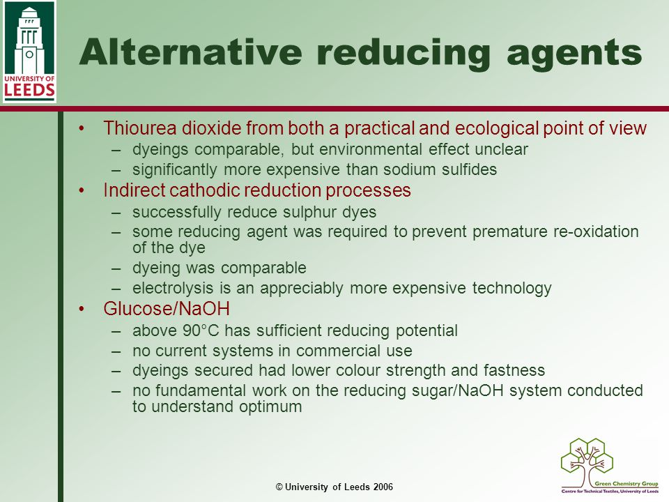 Alternative reducing agents