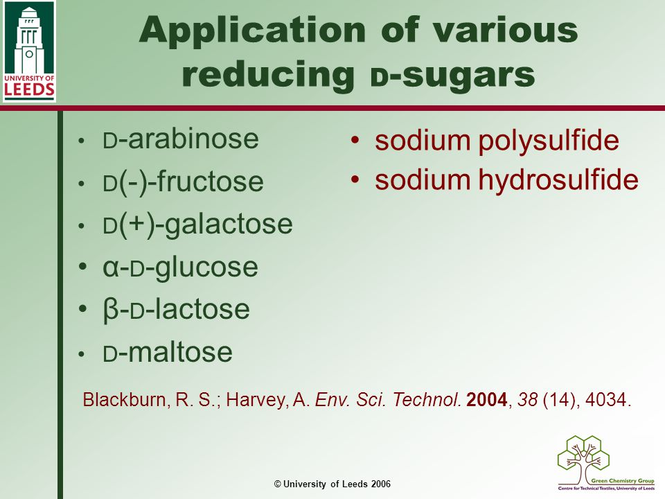 Application of various reducing D-sugars