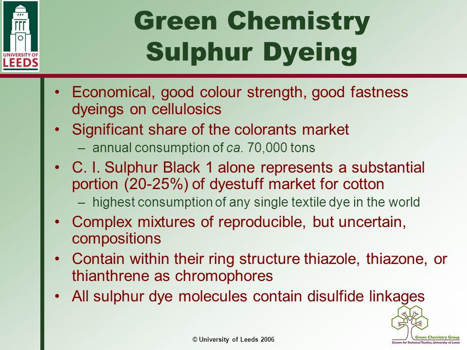 Green Chemistry Sulphur Dyeing