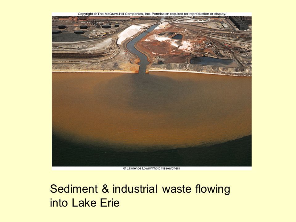 Sediment & industrial waste flowing into Lake Erie