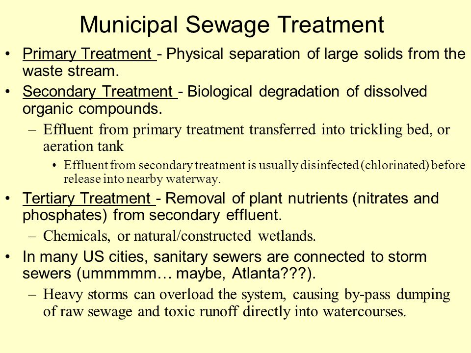 Municipal Sewage Treatment