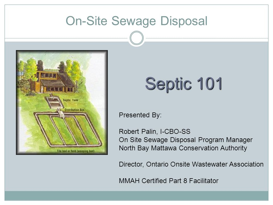 On-Site Sewage Disposal