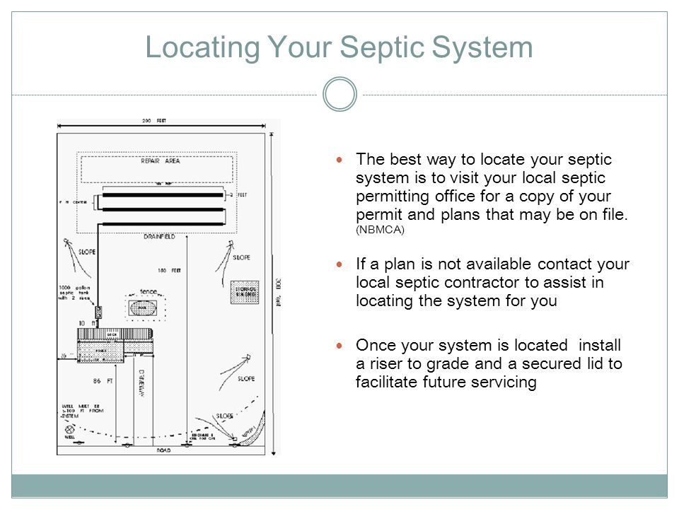 Locating Your Septic System