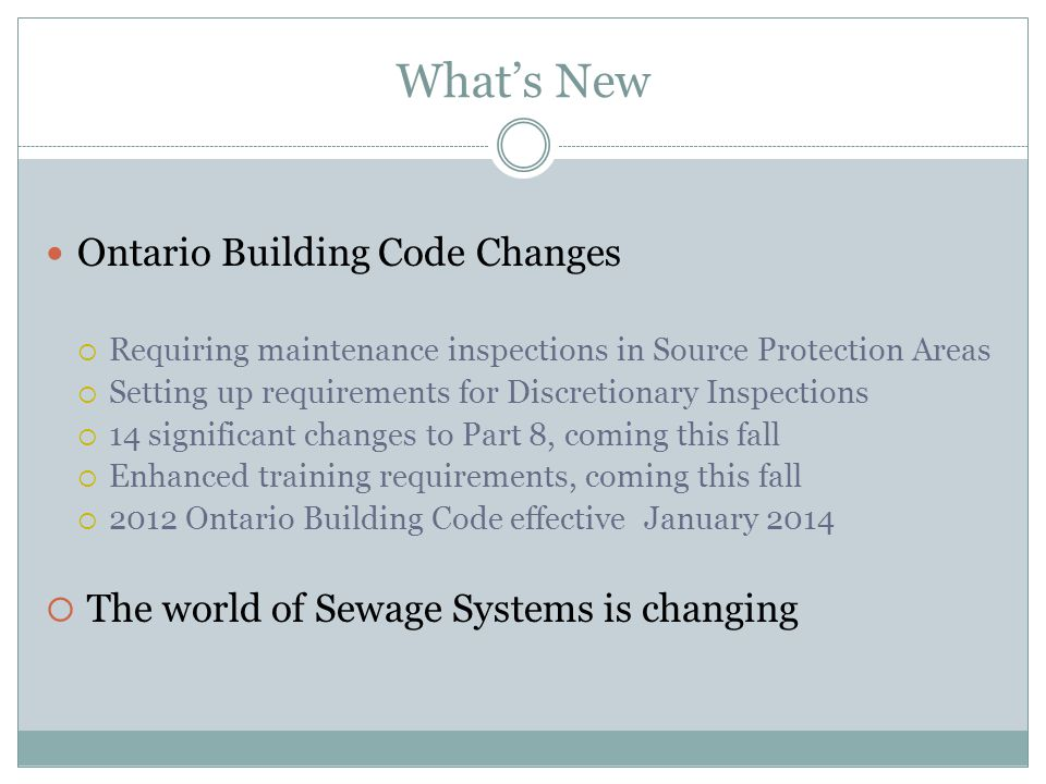 What's New Ontario Building Code Changes