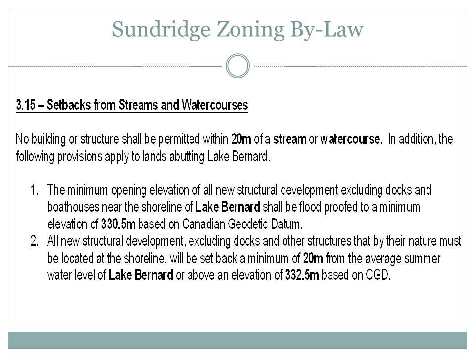 Sundridge Zoning By-Law
