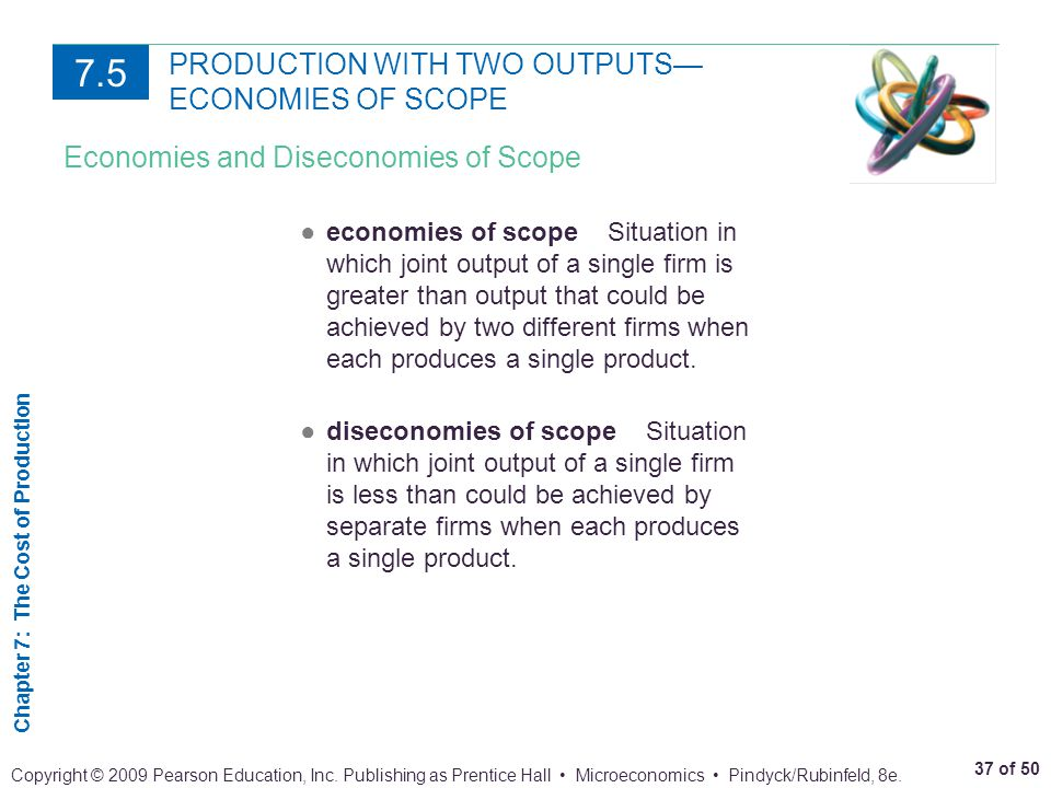 PRODUCTION WITH TWO OUTPUTS— ECONOMIES OF SCOPE