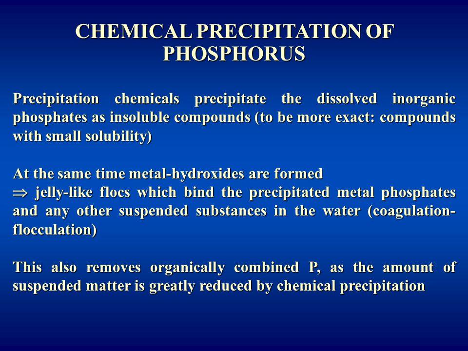 CHEMICAL PRECIPITATION OF PHOSPHORUS